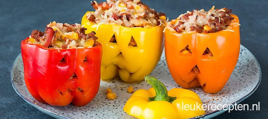 Blog post afbeelding - Gevulde Halloween paprika